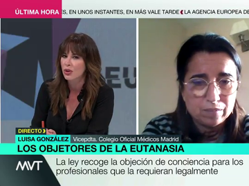 """Mamen Mendizábal corrige a una médico en contra de la eutanasia: """"No es lo mismo matar con ayudar a morir, doctora"""""""