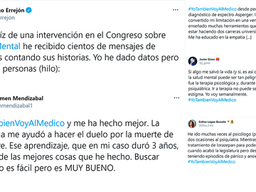 #YoTambiénVoyAlMédico, el hashtag que se ha volcado con la salud mental