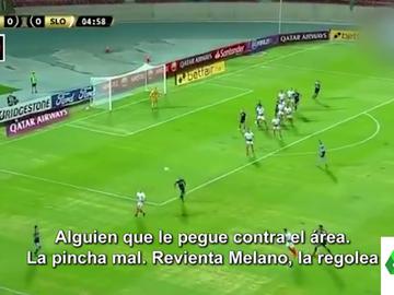 """La hilarante retransmisión de un partido de fútbol por el apellido de un jugador: """"Revienta Melano"""""""