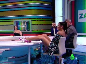 El susto de Cristina Pedroche al levantar demasiado las piernas en directo