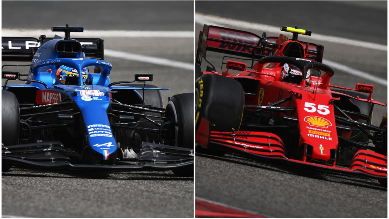 Fernando Alonso y Carlos Sainz en los test de Baréin