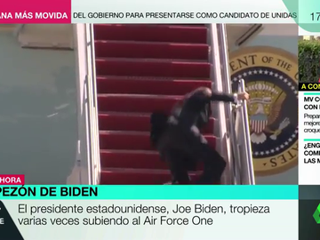 Tropezón del presidente Biden.