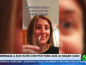 El vídeo de una madre que amenaza a sus hijos con hacerles PCR si no son obedientes