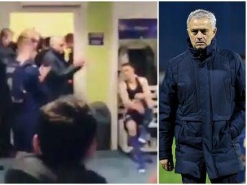 Jose Mourinho, en el vestuario del Dinamo de Zagreb