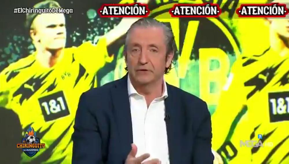 """La noticia de Josep Pedrerol sobre el futuro de Haaland en 'El Chiringuito': """"El Dortmund pide 250 millones"""""""