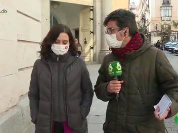 Vídeo manipulado - Isabel Díaz Ayuso intenta huir de una entrevista con laSexta