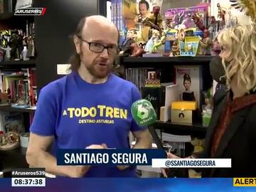 """Santiago Segura desvela que el rodaje de 'A todo tren' fue difícil por """"Filomena y los positivos entre los figurantes"""""""