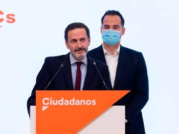 Edmundo Bal e Ignacio Aguado, después de que anuncien su candidatura.