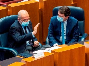 El vicepresidente de la Junta, Francisco Igea, junto al presidente de la Junta, Alfonso Fernández Mañueco