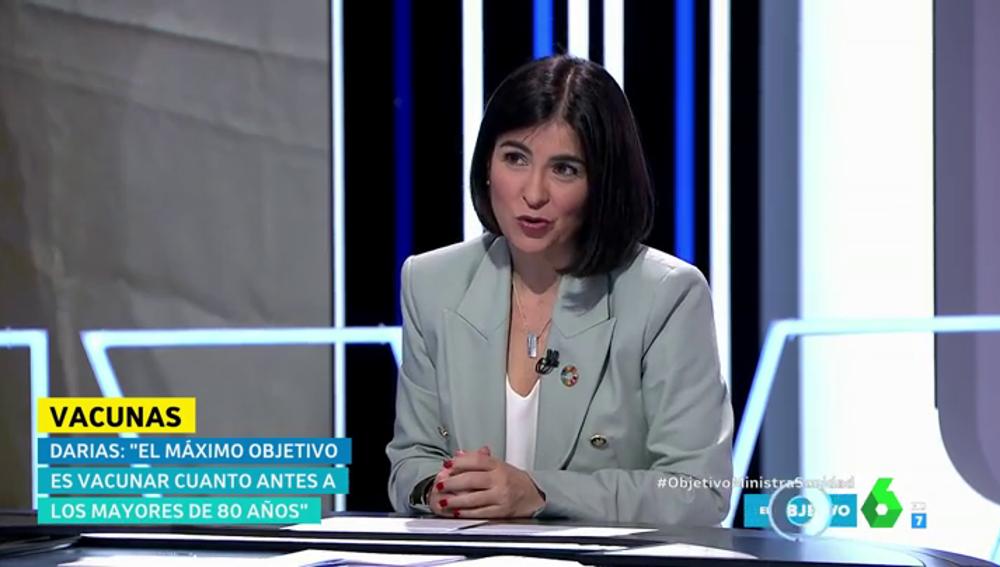 Carolina Darias detalla el número de dosis de la vacuna de Janssen que recibirá España en los próximos tres meses