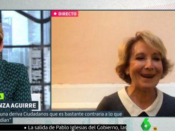 Esperanza Aguirre, en Liarla Pardo