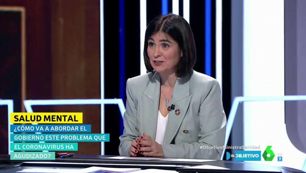"""La ministra Carolina Darias invita a Íñigo Errejón a colaborar en la estrategia de salud mental: """"Es un problema muy importante"""""""