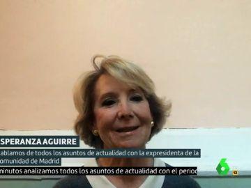 """Esperanza Aguirre, a favor del lema 'Comunismo o libertad': """"Europa ha acordado que el nazismo y el comunismo son sistemas totalitarios"""""""