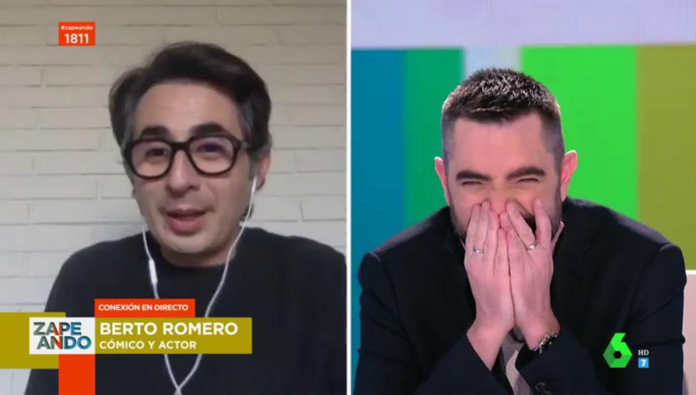 Surrealista entrevista de Berto Romero en directo en Zapeando: errores técnicos, troleos y charlas personales