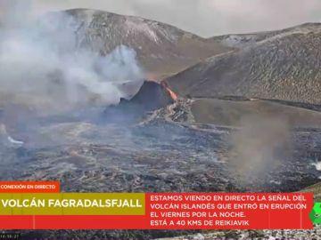 La señal en directo de un volcán islandés expulsando lava tras 6.000 años inactivo