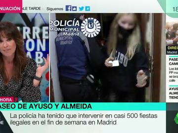 """La respuesta de Mamen Mendizábal a Ayuso tras afirmar que los turistas van a Madrid """"a visitar museos y a veces a los bares"""": """"El orden no lo tiene bien"""""""