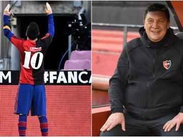Leo Messi y Germán 'El Mono' Burgos