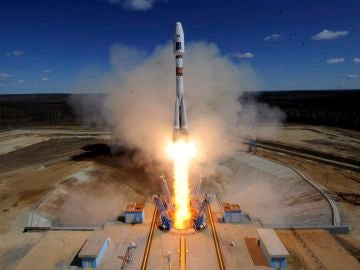 El cohete portador Soyuz-2.1a en un lanzamiento