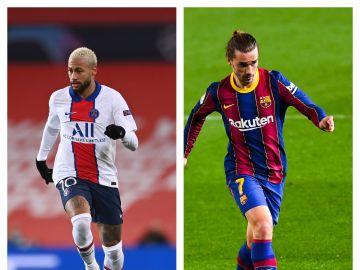 Neymar y Griezmann