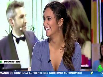 Recordamos el 'dardo' de Cristina Pedroche a Frank Blanco por las Campanadas que presentaron en laSexta