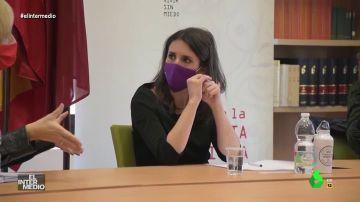 Vídeo manipulado - El dilema de Irene Montero al escuchar un 'profundo' consejo de pareja
