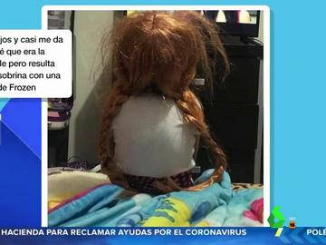 El susto de un internauta al confundir a su sobrina con la muñeca Annabelle