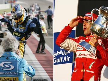 Fernando Alonso, vencedor en Baréin en 2005, 2006 y 2010
