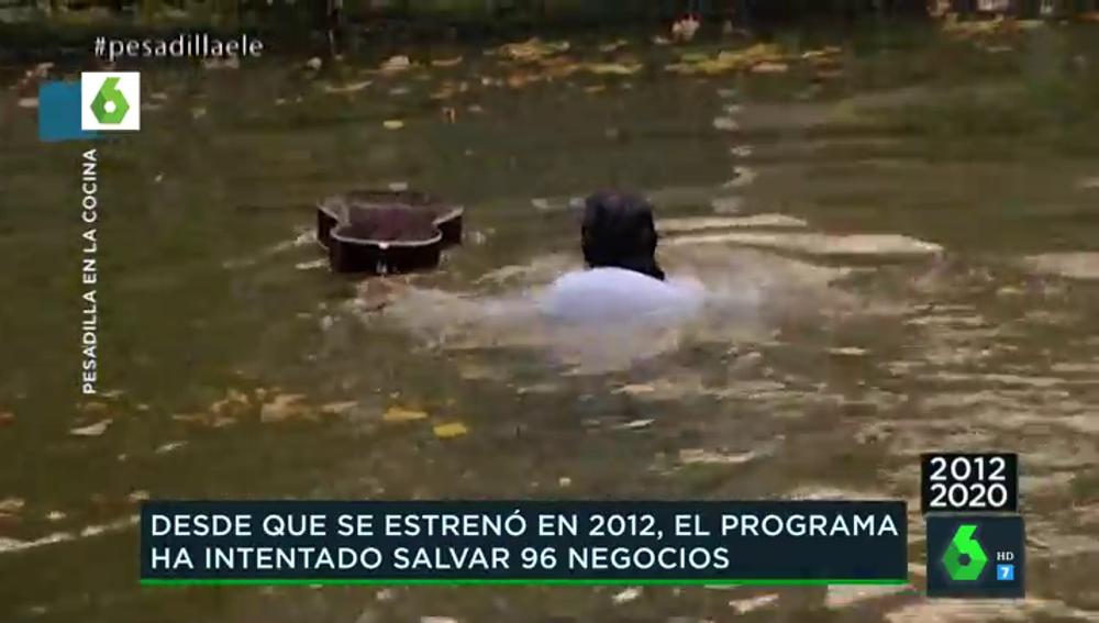 El histórico vídeo en el que Alberto Chicote tiró la guitarra de Fermín a un canal en los Países Bajos