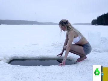 Jonna Jinton, la influencer sueca que arrasa en redes bañándose en lagos helados o tendiendo la ropa cubierta de nieve