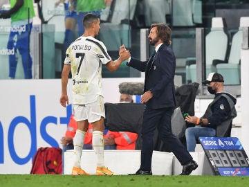 Cristiano Ronaldo y Andrea Pirlo