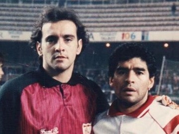 'Monchi' y Maradona