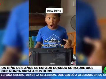 """Un niño estalla contra su madre cuando le escucha decir que no grita en casa: """"Estás mintiendo"""""""