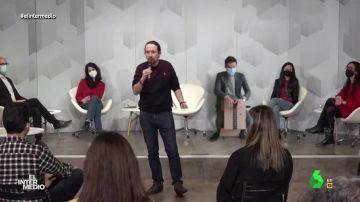 Vídeo manipulado - Un intruso irrumpe en un mitin de Pablo Iglesias