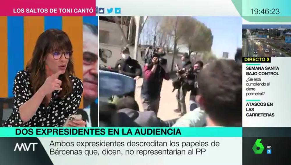Mamen Mendizábal desmonta con datos a los dirigentes del PP que afirman que la caja B no existió