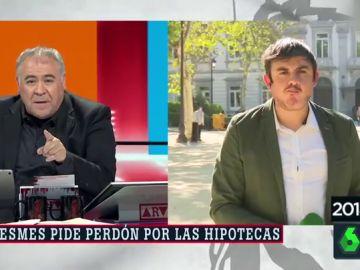 Así fue la surrealista pillada de Antonio García Ferreras a Antonio Pérez Medina comiéndose un bocata en pleno directo