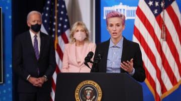 Megan Rapinoe en su comparecencia en la Casa Blanca en el Día de la Igualdad Salarial