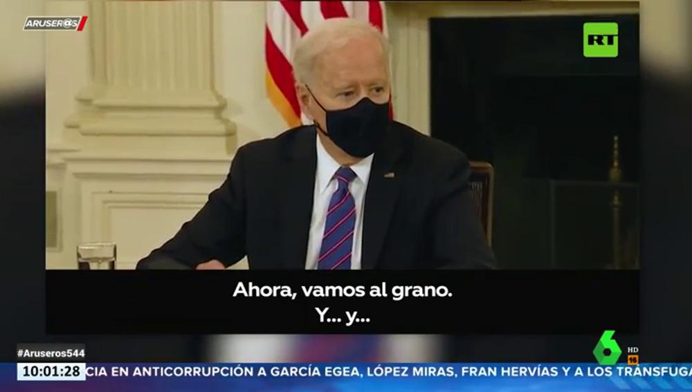 Joe Biden sufre un lapsus en un acto y su jefe de prensa pide a los periodistas que se retiren