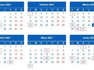Calendario de la declaración de la renta en 2021