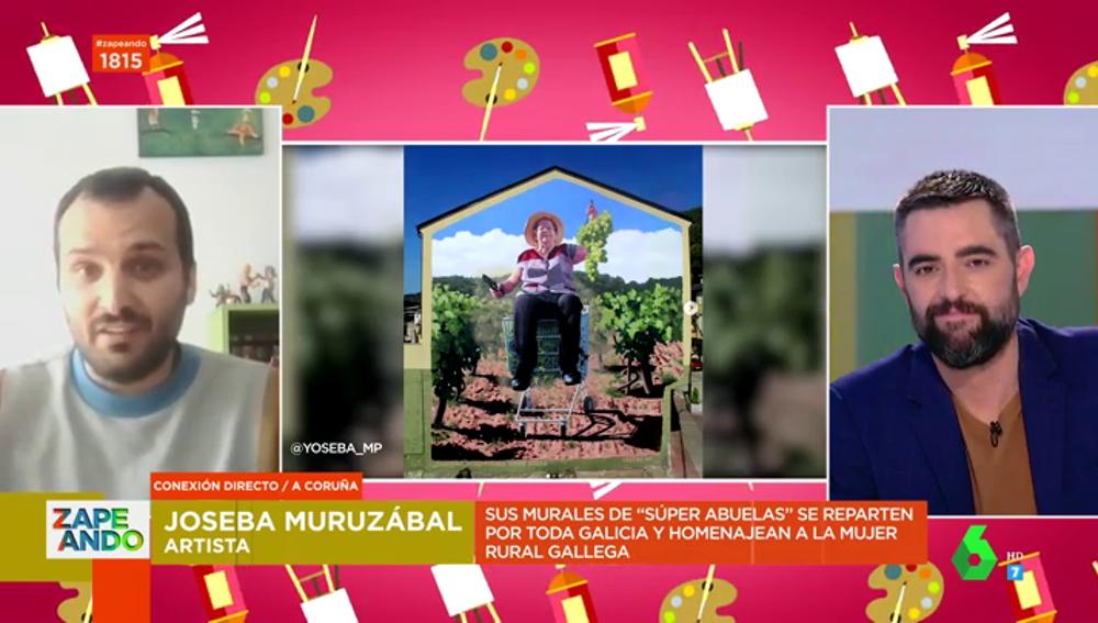 """Un artista gallego homenajea a las abuelas rurales convirtiéndolas en superheroínas en murales: """"Hacen cosas que nosotros no somos capaces de hacer"""""""