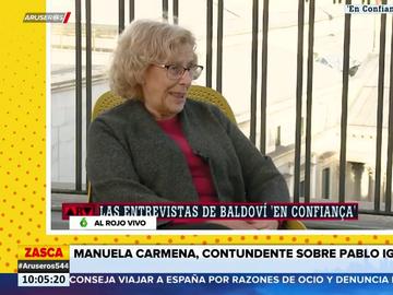 """Carmena, a Pablo Iglesias: """"Me deberías haber votado para la candidatura de Madrid. Te equivocaste"""""""