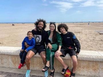 Marcelo, junto a su familia