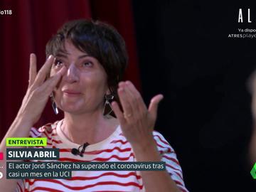 """Silvia Abril se emociona al hablar de Jordi Sánchez tras pasar por la UCI: """"Se despertó fatal y quedó sepultado de amor"""""""