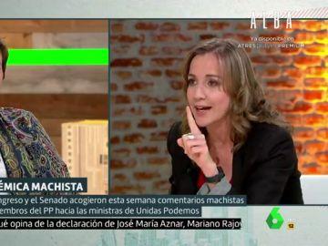Celia Villalobos y Tania Sánchez