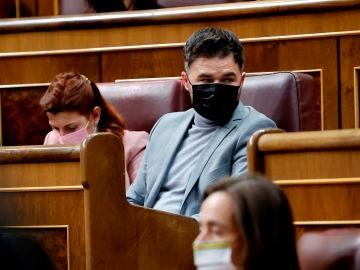El portavoz parlamentario de ERC, Gabriel Rufián