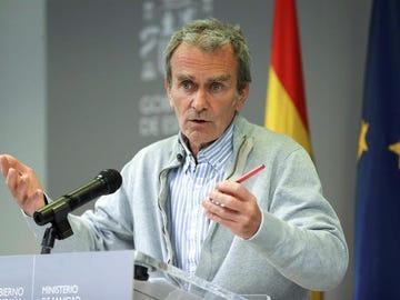Fernando Simón, durante la rueda de prensa