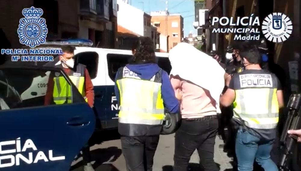 Imagen de archivo de Trinitarios detenidos en una operación policial en Madrid