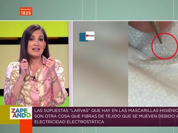 La explicación científica de Boticaria García a las supuestas 'larvas' vistas en mascarillas