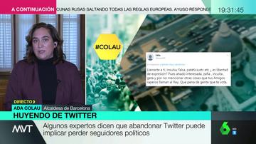 Ada Colau explica los motivos por los que deja Twitter