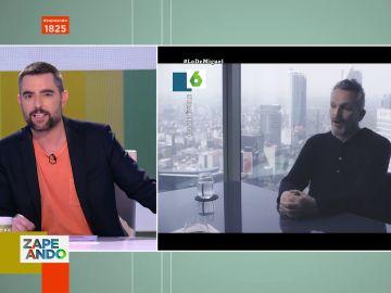 La reacción de Dani Mateo a la tensa discusión de Miguel Bosé y Jordi Évole sobre el coronavirus