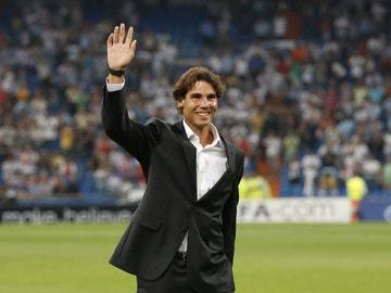 Rafa Nadal, en el estadio Santiago Bernabéu